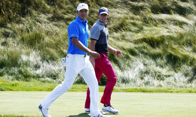 Jordan and Rory: Look out lads, they're gaining on you.