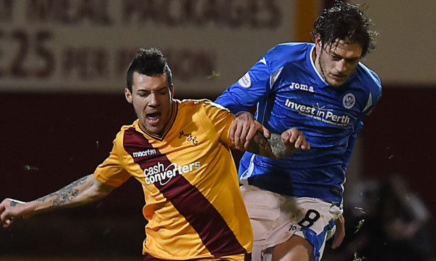 Murray Davidson in action at Fir Park before his injury.