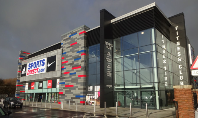 An artist's impresion of the planned Sports Direct store in Lochee.