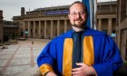 Scottish crime author Stuart MacBride received an honorary degree from Dundee University last summer