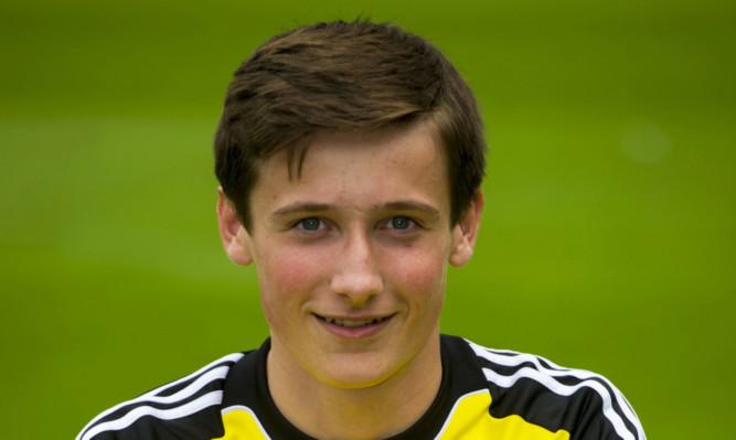 In goal against Rangers: Jamie Sneddon.