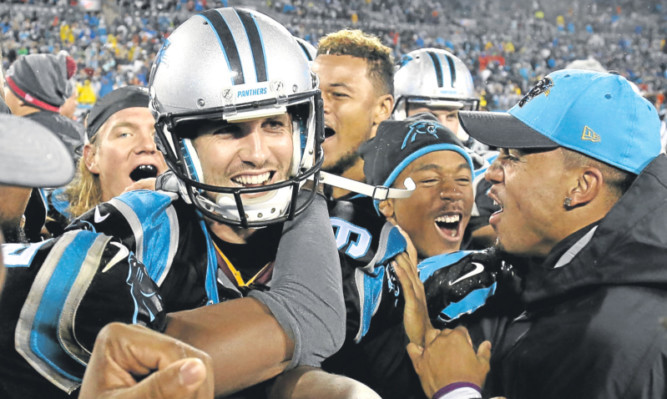 Graham Gano after a game with the Carolina Panthers.