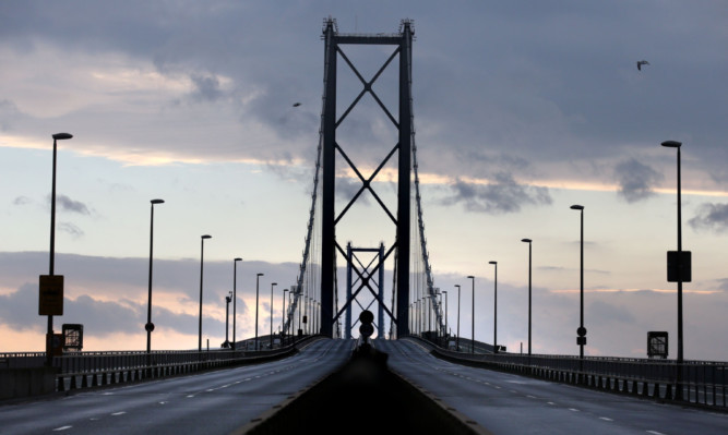Scotland's transport system was plunged into chaos when the bridge had to be closed.