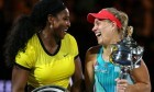 Serena Williams was gracious in defeat to Angelique Kerber.