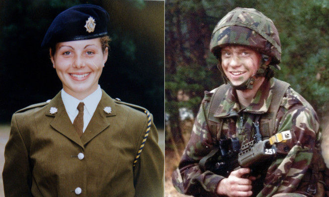 Privates Cheryl James and James Collinson.