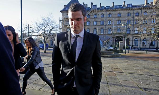 England and Sunderland footballer Adam Johnson at Bradford Crown Court.