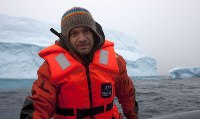 Greenpeace activist Ben Stewart in the Arctic