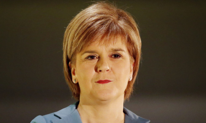 First Minister Nicola Sturgeon is lucky with her opponents.