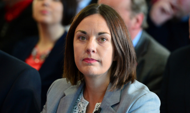 Kezia Dugdale's party is still trailing behind in the polls.