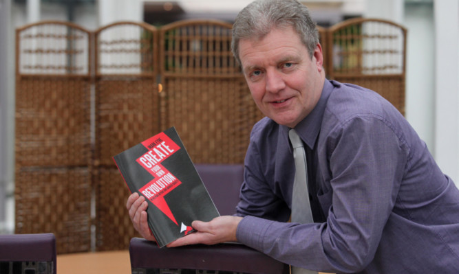 Author Mark Eyre with his book 'Create your own Revolution'