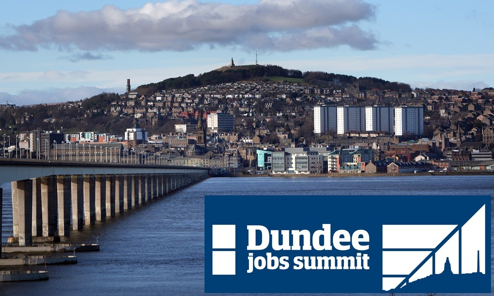Kris Miller, Courier, 09/02/16. Picture today shows general view of Dundee City Centre, River Tay and Tay Road Bridge for files.