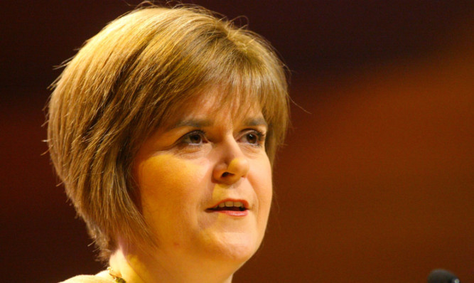 Nicola Sturgeon will claim there is a 'natural majority' for a Yes vote on Scottish independence.