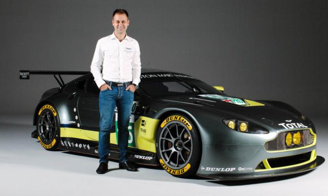 Jonny Adam with the Aston Martin Racing V8 Vantage GTE.