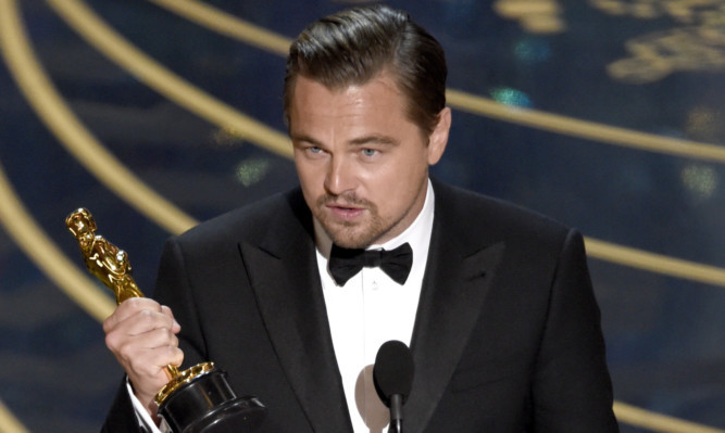 Leonardo DiCaprio finally received an Oscars gong.