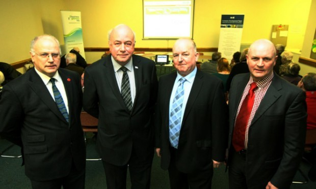 From left: Fife Council leader David Ross,  Services Manager Economic Development George Sneddon, Cllr Willie Ferguson and Cllr Bobby Clelland.
