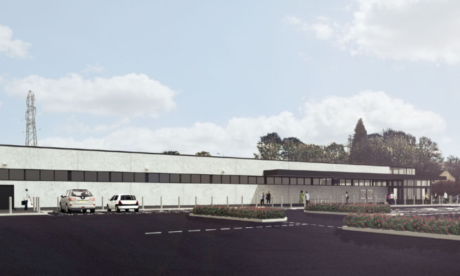 An artist's impression of the Aldi store planned for Myrekirk in Dundee.