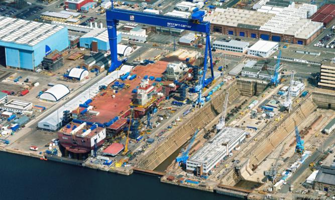 Rosyth dockyard.