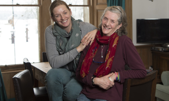 Nicola Colquhoun (left) with her mother, Auchlyne Estate owner Emma Paterson
