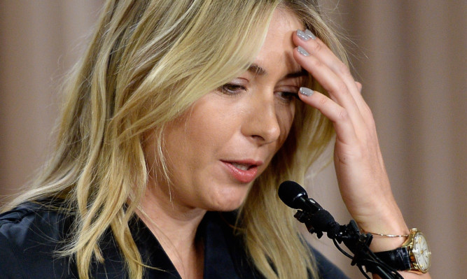 Maria Sharapova speaks to the media to annoucnce her failed test.