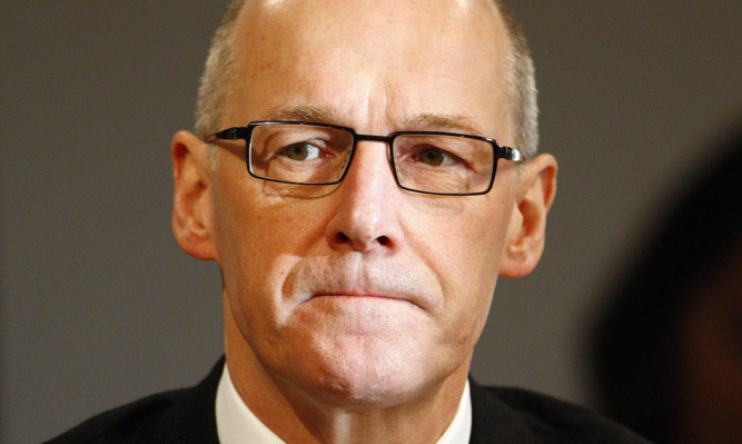 John Swinney during the negotiations on the fiscal framework.