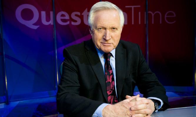 Question Time presenter David Dimbleby.