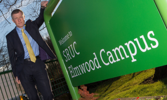 Liberal Democrat leadere Willie Rennie at Elmwood where he is trying to convince Fife College to take it over and become one stablishment.