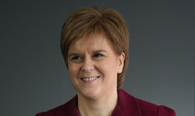 First Minister Nicola Sturgeon.