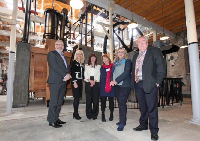 From left: Pete Reid, Yvonne Corbett, Kerrie Sweeney,Jane Ferguson, Alison Henderson and Malcolm Roughead.