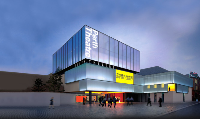 An artist's impression of the new-look Perth Theatre.