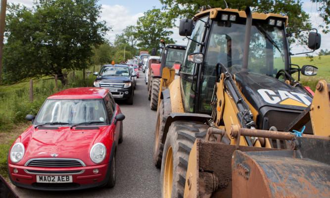 Festivals goers endured massive traffic jams around the site at Strathallan last year.