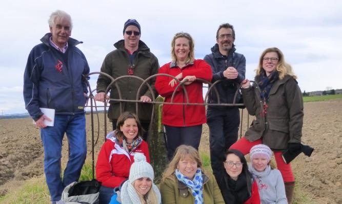 Farm tour training group in Angus.