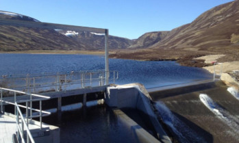 The new dam for the Bruar hydro scheme.