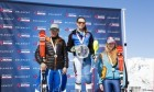 Kirsty Guest on the podium after picking up bronze in the U18 slalom race.