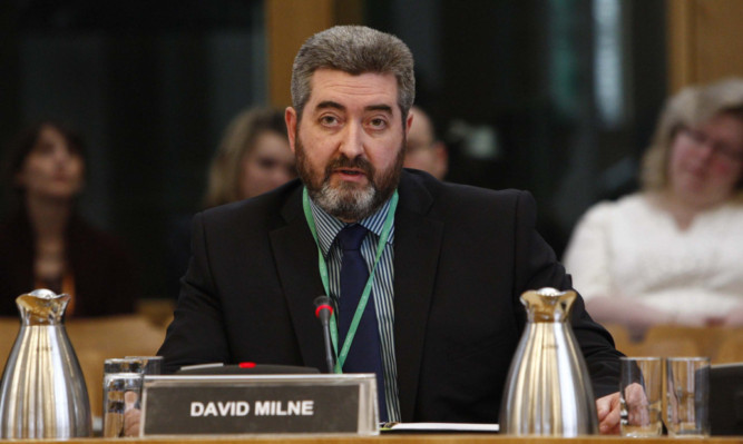 The Scottish Parliament's Petitions Committee takes evidence from David Milne.