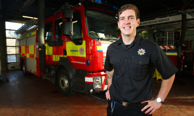 Firrefighter Stevie McCrorie has returned to work after winning The Voice last April.