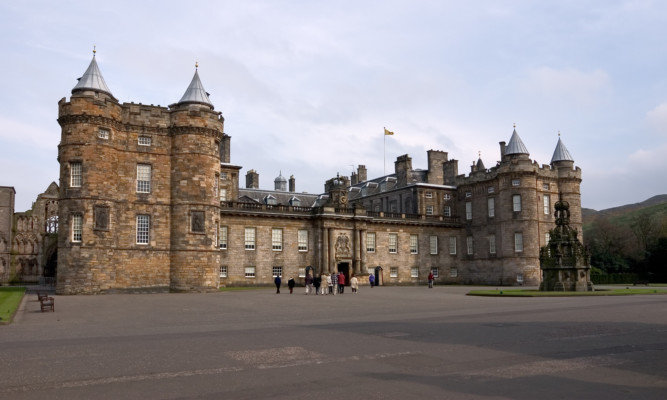 The Palace of Holyroodhouse in Edinburgh.