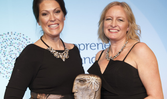 Julie Wilson and Amy Livingstone won the emerging category at the Entrepreneurial Scotland 2015 awards.