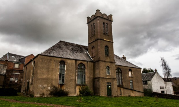 St Michaels Church hall in Crieff is in a very poor state of disrepair