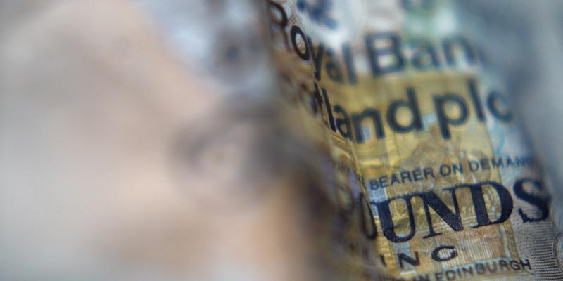 A Royal Bank of Scotland five pound note