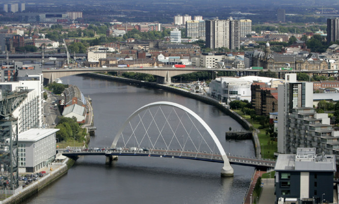 The body was discovered near Pacific Quay on Sunday.