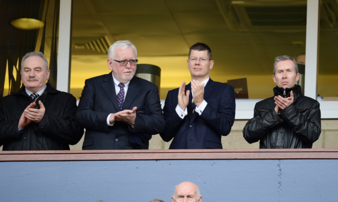 SPFL Chief Executive Neil Doncaster (second from right).