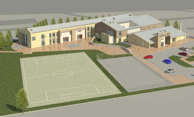An artist's imrpession of the new building for Tulloch Primary.