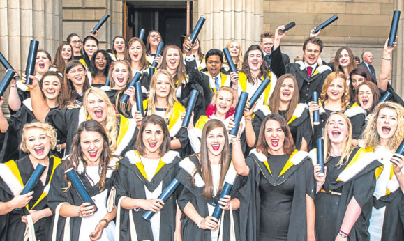 Record numbers have appled in the hope of one day graduating from Dundee University.
