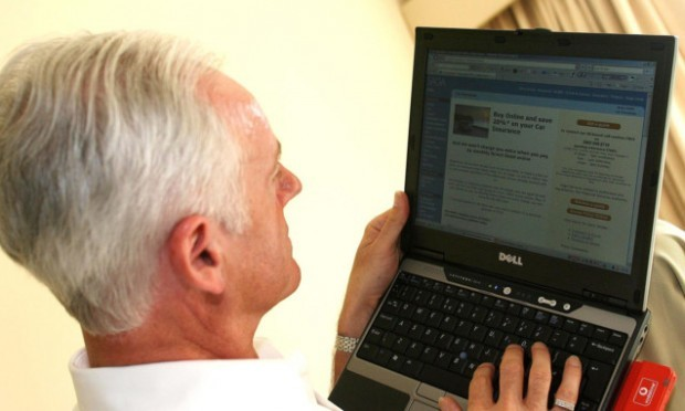 The elderly remain among the least likely to have used the net.