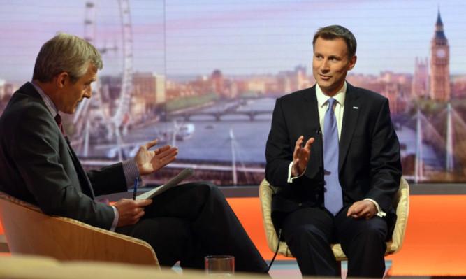 Health Secretary Jeremy Hunt stresses Tory Party unity on the BBCs Andrew Marr show.