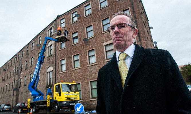 Safety Concerns Over Falling Masonry At Dundee Flats The