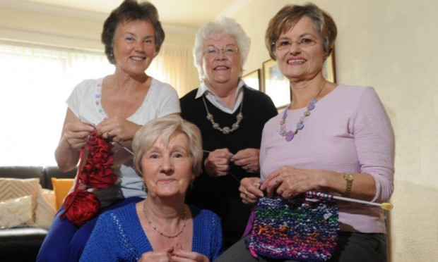 Preparing for the challenge are, back, from left, Linda Grahame and Norma Duncan and, front, Louise Johnston and Moira Bowman.