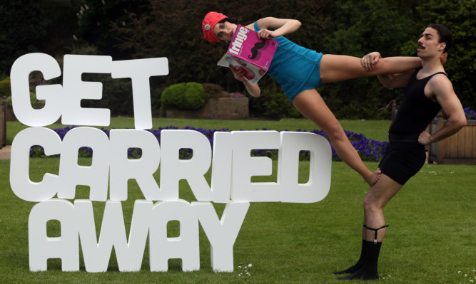 Felicity Edmond and Johnathan Elders promote the Edinburgh Festival Fringe programme at the Royal Botanical Gardens in the city.