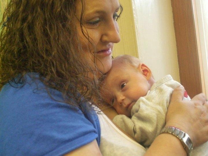 Leylan and his mum.