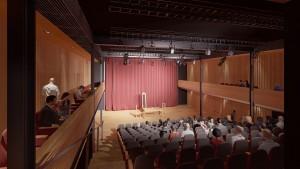 An artist's impression of the theatre interior.